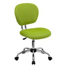 Mid-Back Apple Green Mesh Swivel Task Chair with Chrome Base