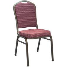 Advantage Premium Burgundy-patterned Crown Back Banquet Chair - Gold Vein
