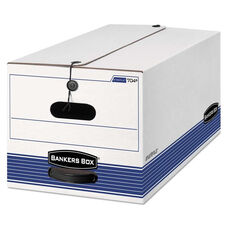 Bankers Box® STOR/FILE Storage Box - Letter - String and Button - White - 4/Carton