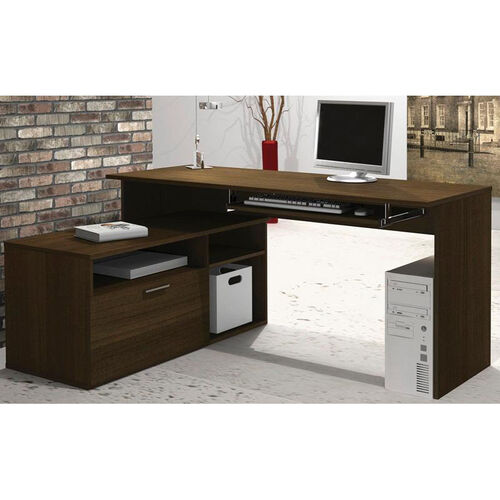 Our Modula L-Shaped Workstation with File Drawer and Keyboard Shelf - Tuxedo is on sale now.