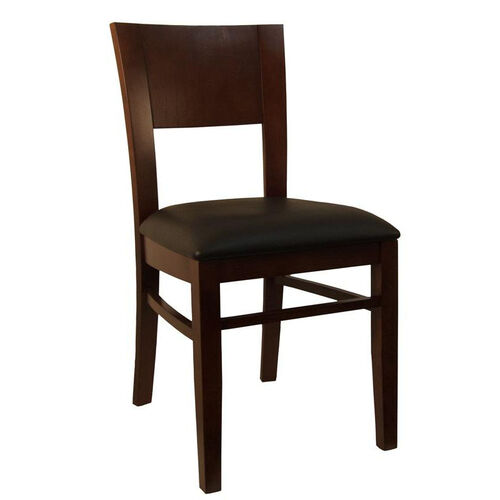 Our Dining Chair in Dark Brown Finish with Black Vinyl Seat is on sale now.