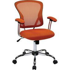 Ave Six Juliana Task Chair with Mesh Seat - Orange