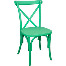 Advantage Green Resin X-Back Chair