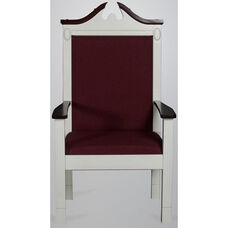 Red Oak Colonial Finish Side Pulpit Chair