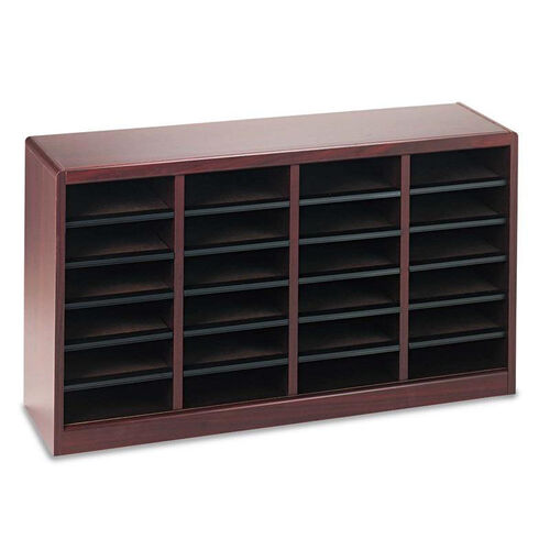 Our Safco® Wood/Fiberboard E-Z Stor Sorter - 24 Sections - 40 x 11 3/4 x 23 - Mahogany is on sale now.