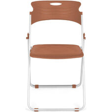 Flexure Folding Chair with Polypropylene Seat and Back - Caramel