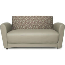 InterPlay Sofa - Plum and Taupe