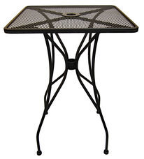 Outdoor Wrought Iron Table with 30'' Square Top