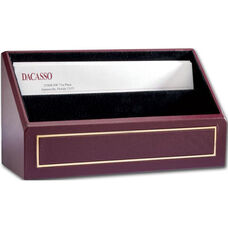 24Kt Gold Tooled Letter Holder - Burgundy