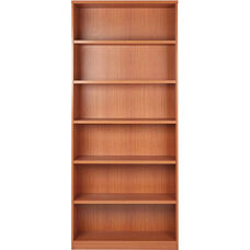 OSP Furniture 6-Shelf Laminate Bookcase with 1