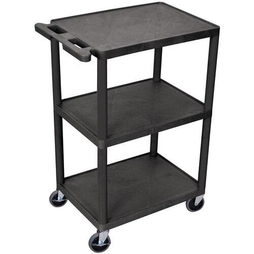 Our 3 Shelf Structural Foam Plastic Utility Cart - Black - 24