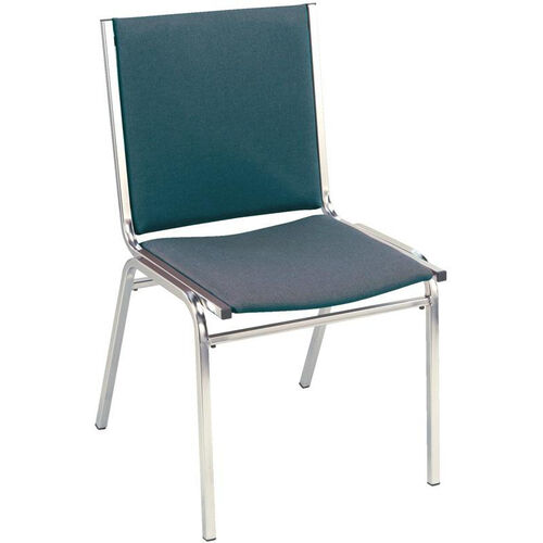 Our Quick Ship 400 Series Stacking Square Steel Frame Armless Hospitality Chair with Full Back and 1