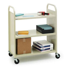 Duro Book & Utility Truck with Flat Shelves - 36