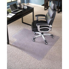 EverLife 46''W x 60''D High Pile Anchorbar Chairmat with 25''W x 12''D Lip