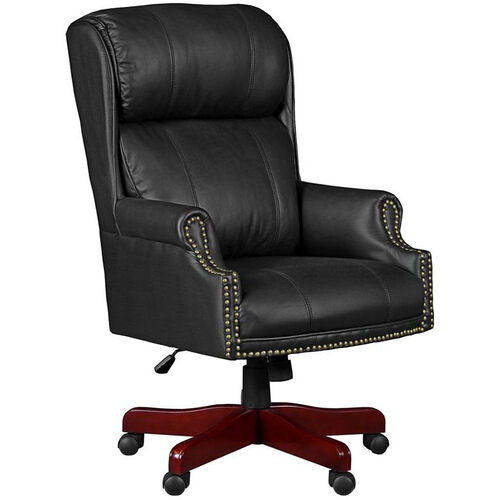 Our Barrington Height Adjustable Swivel Chair with Casters - Black Leather is on sale now.