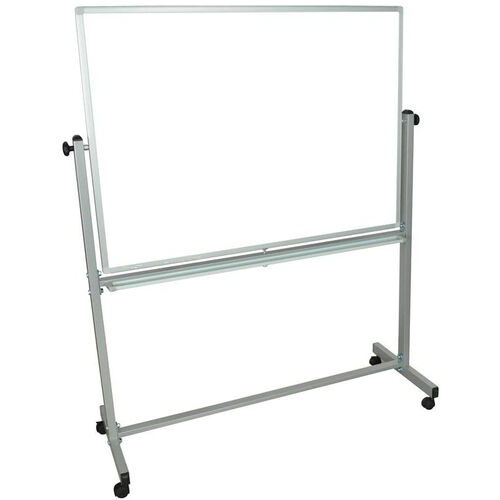 Doubled Sided Aluminum Frame Magnetic Mobile Whiteboard with Marker Tray - 51.5