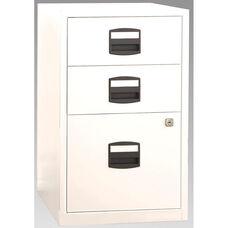Bisley Three Drawer Steel Home Filing and Storage Cabinet - Orange