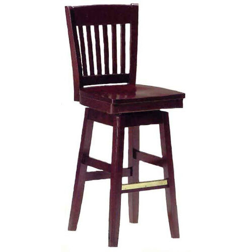 Our 1997 Bar Stool w/ Wood Swivel Seat and Brass Trim on Foot Rest is on sale now.