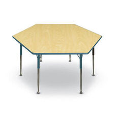 Hexagon Shaped Particleboard Juvenile Activity Table - 48