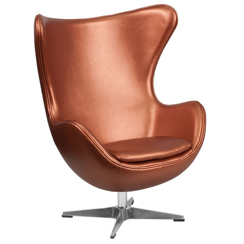 Our Copper Leather Egg Chair with Tilt-Lock Mechanism is on sale now.