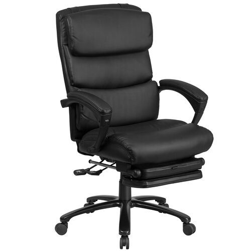 Our High Back Black Leather Executive Reclining Ergonomic Office Chair with Adjustable Headrest, Coil Seat Springs and Arms is on sale now.
