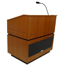 Coventry Wired 150 Watt Sound Multimedia Lectern - Cherry Finish - 30
