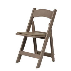 1000 lb. Max Sand Beige Resin Folding Chair