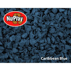 NuPlay Recycled Rubber Loose Fill Mulch - Caribbean Blue - 1.5 Cubic Feet