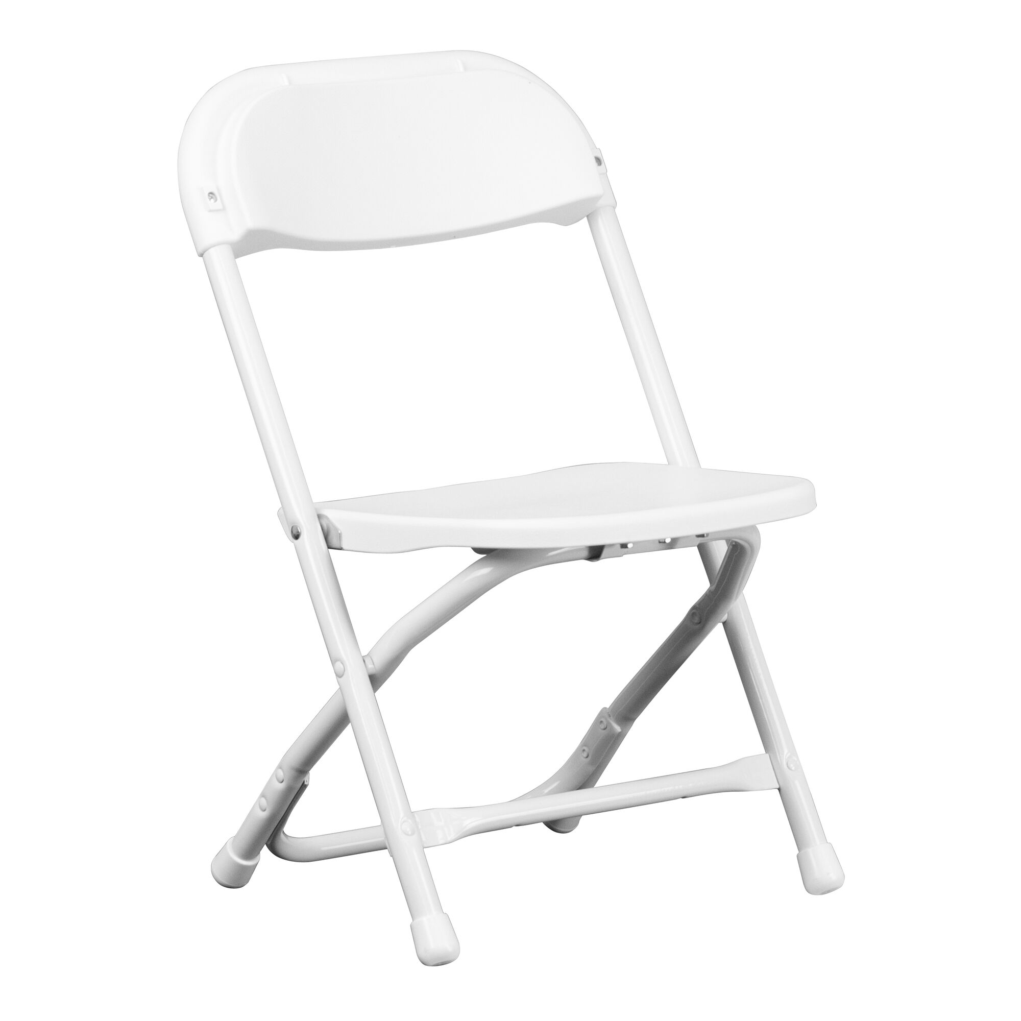 Flash furniture kids white plastic folding chair y kid wh for White kids chair