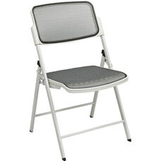 Pro-Line II Deluxe ProGrid® Mesh Seat and Back Folding Chair with 400 lb Weight Capacity - Set of 2 - Beige