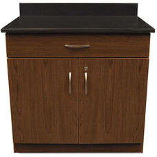 Alera Plus™ Hospitality Base Cherry Laminate Cabinet with Two Doors and Drawer - 36