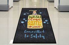 """Committed to Safety"" Message Floor Mat - 59'W x 35""D"