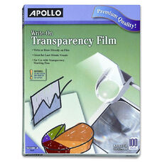 Apollo Write-On Transparency Film - Pack Of 100