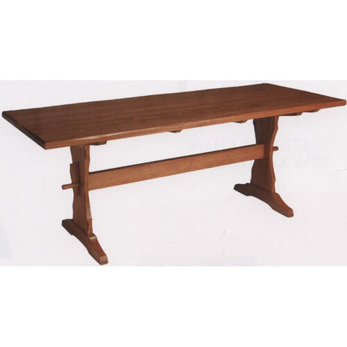 Our 1778 Large Rectangular Wood Trestle Table with Rustic Styling and Self-Leveling Glides is on sale now.