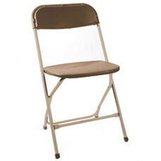 500 lb. Max Brown with Neutral Frame Poly Performance Folding Chair