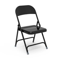 Quick Ship Multi-Purpose Steel Folding Chair with Black Finish - 17.75''W x 18.62''D x 29.5''H