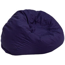 Oversized Solid Navy Blue Bean Bag Chair for Kids and Adults