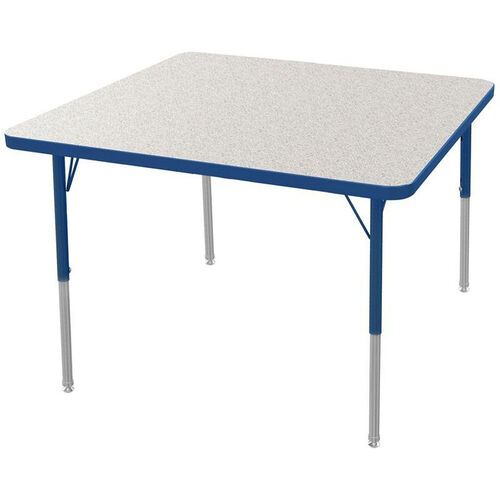 Mg square kids activity table mg2216 82 anav churchchairs4less our mg series kids height adjustable square activity table gray glace top with navy edge watchthetrailerfo
