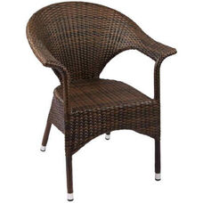 Leon Outdoor Weave Series Arm Chair - Espresso