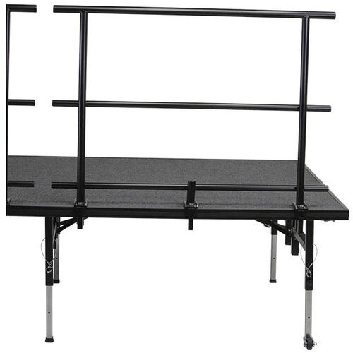 Our Guard Rail with Heavy - Gauge Steel Tubing Rails and Chair Stop for Stage and Seated Riser - 46