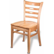 Carole Armless Guest Chair - Wood Seat