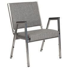 HERCULES Series 1500 lb. Rated Gray Antimicrobial Fabric Bariatric Arm Chair with Silver Vein Frame