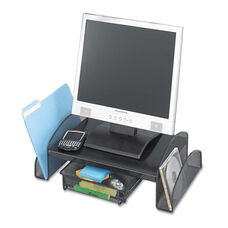 Safco® Onyx Mesh Steel Monitor Stand - 19 1/4 x 11 1/4 x 6 1/4 - Black