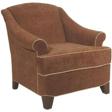 4355 Lounge Chair w/ Loose Cushion & Tapered Leg - Grade 1