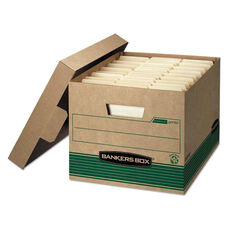 Bankers Box® STOR/FILE Extra Strength Storage Box - Letter/Legal - Kraft/Green - 12/Carton