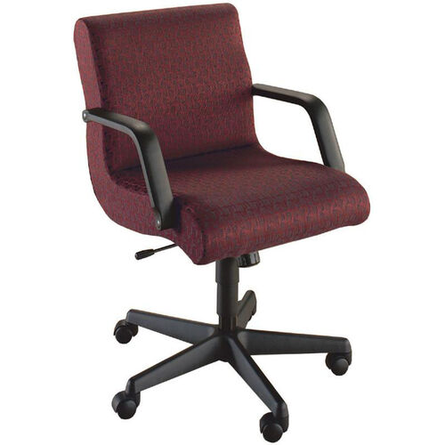 Our Quick Ship Scoop Management Swivel Chair with Black Urethane Arms is on sale now.