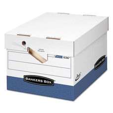 Bankers Box® PRESTO Maximum Strength Storage Box - Ltr/Lgl - 12 x 15 x 10 - White - 12/Carton