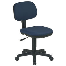 Work Smart Basic Armless Task Chair with Seat Height Adjustment and Casters