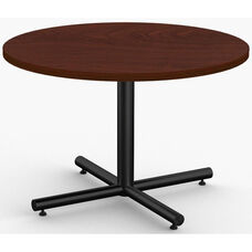ClassiX 1 Day Quick Ship 42'' Diameter Breakroom Table with Single Column X-Base
