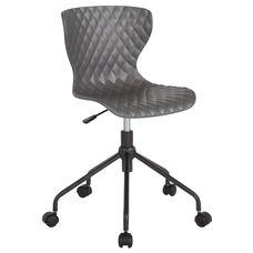 Brockton Contemporary Design Gray Plastic Task Office Chair